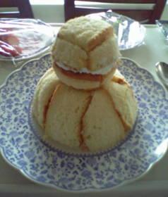 ゆきだるまケーキ1