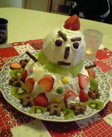 ゆきだるまケーキ2