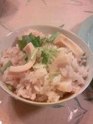 真竹の筍ご飯