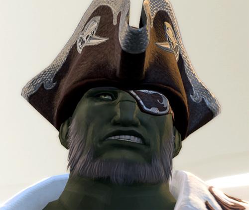 ルガ船長の不満顔