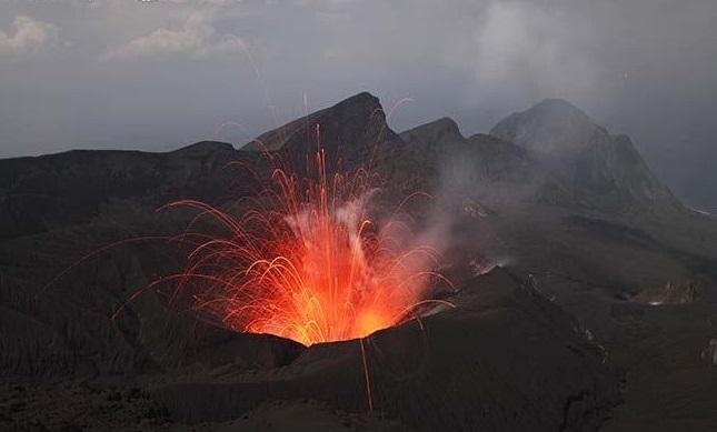 Suwanose-jima volcano Japan