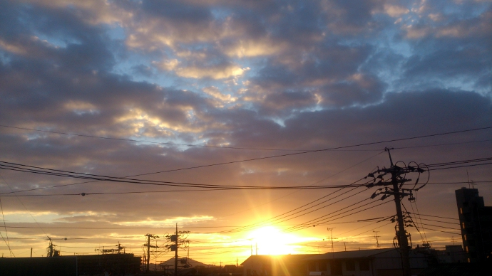 20121127朝焼け