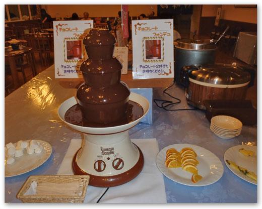 チョコレートフォンデュ