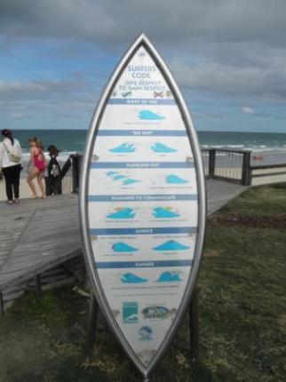 サーフボードの看板