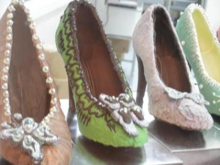 チョコレートの靴アップ