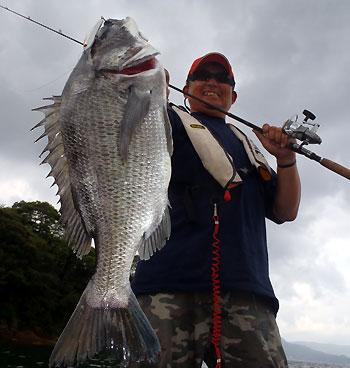 今日の最大魚・・・コイツはトップでキャッチです。