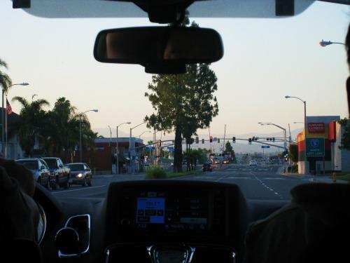 車窓から夕焼け