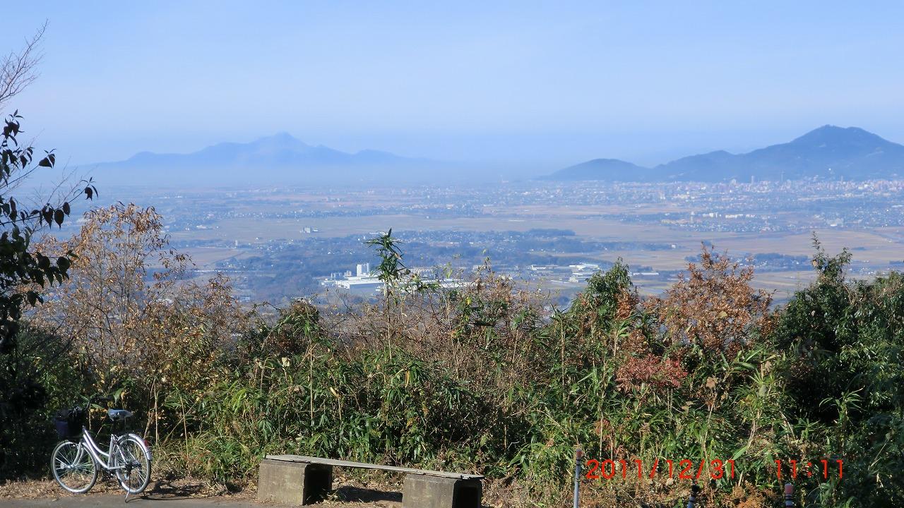 飯田山中腹からの展望
