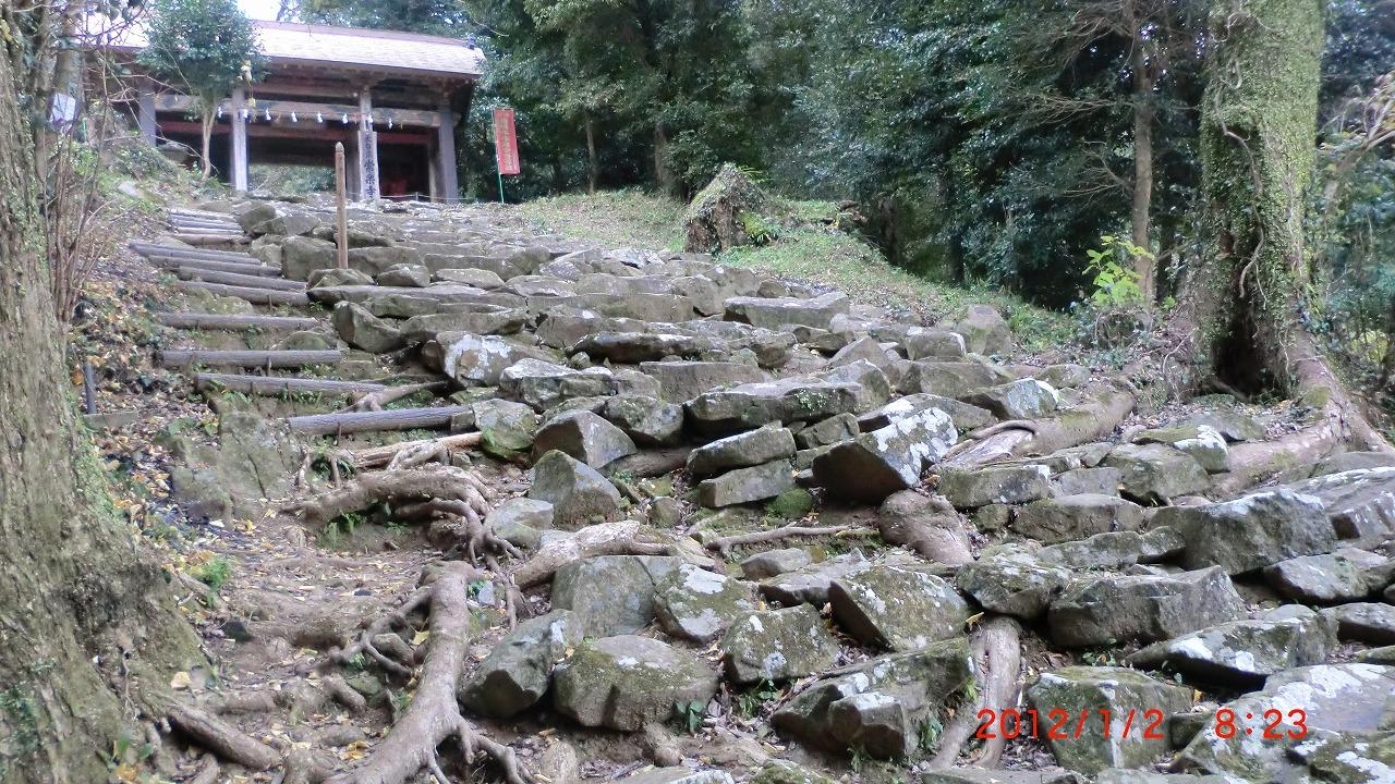 常楽寺石段