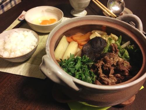 Jan06_すき焼き風鍋