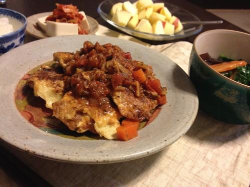 Jan31_トマト野菜ソースのせポークピカタ