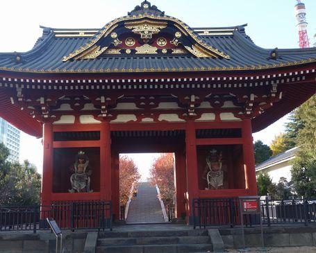 秀忠の霊廟惣門