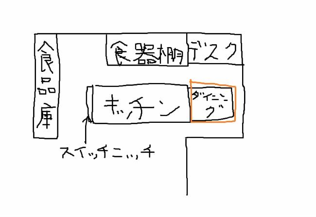 キッチン手書き(ダイニング)