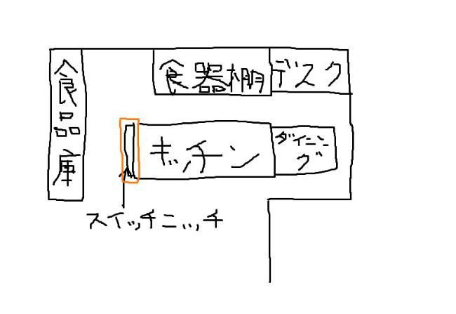 キッチン手書き(スイッチニッチ)