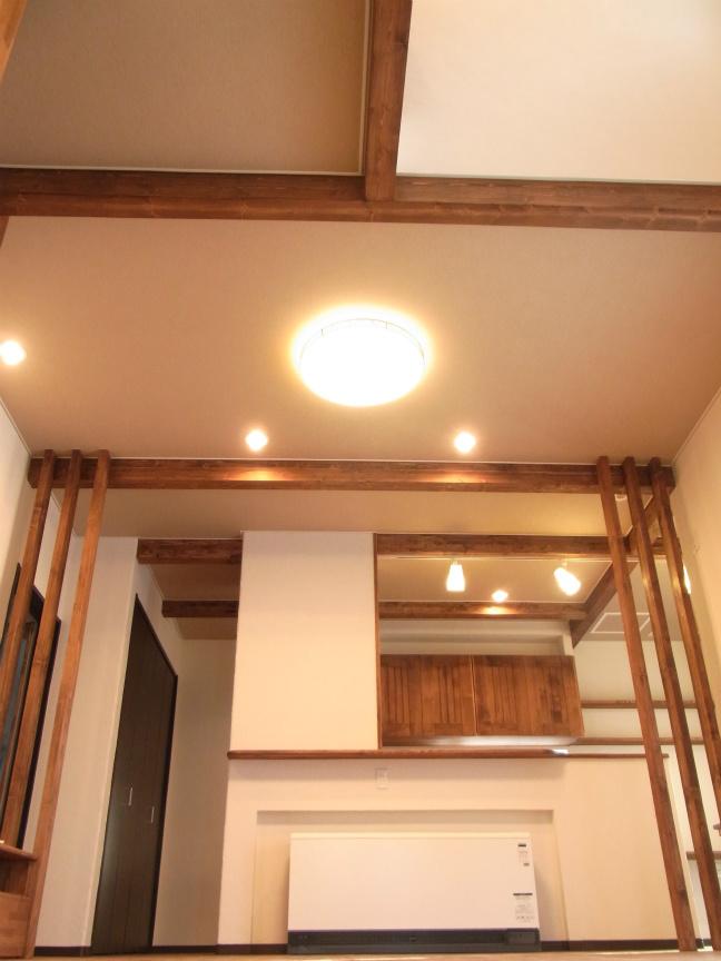 キッチン側全体照明2