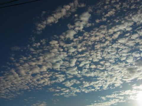 9月22日朝の雲