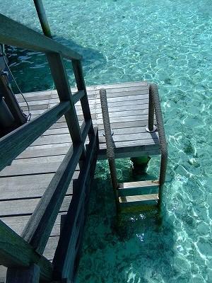 水上コテージ