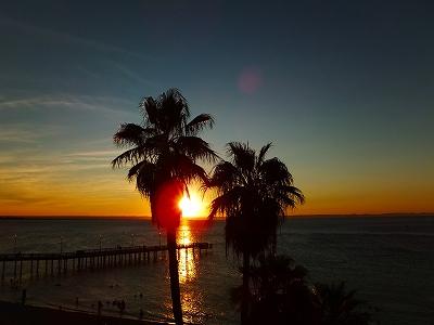 ラパスの夕日