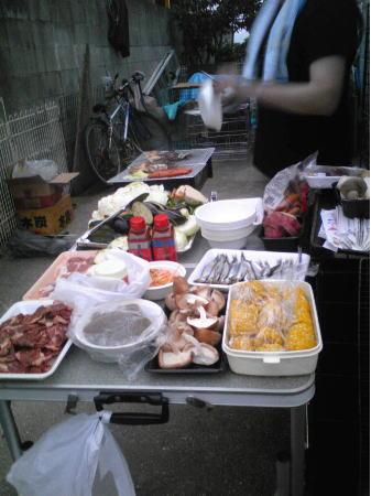 BBQ準備
