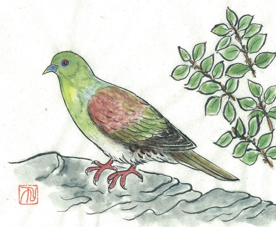 アオバト(201110月号表紙絵)ブログ用
