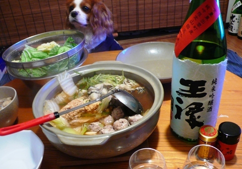 牡蠣鍋と王禄