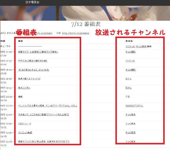 日本の主要チャンネルを視聴49-26-296