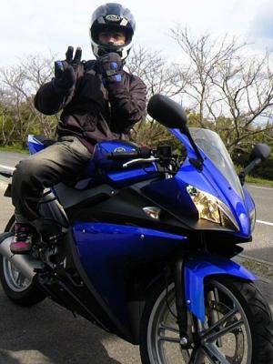 はっちゃんwithバイク^^