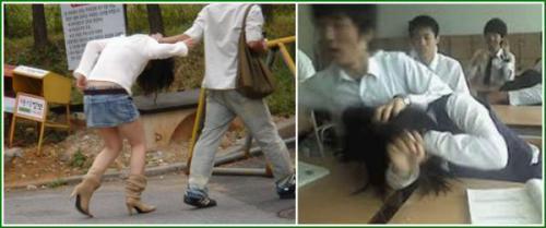 女性に優しい韓国男 暴力