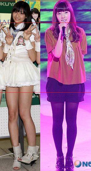 アイドル 日本VS韓国