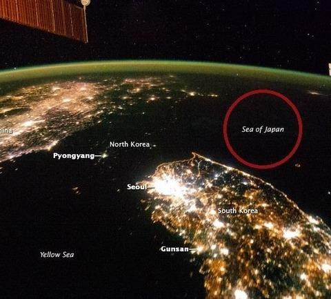 衛星写真 朝鮮半島