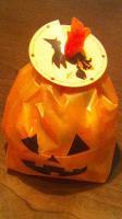ハロウィンのかぼちゃシュークリーム