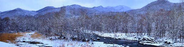 豊平川冬_パノラマ1