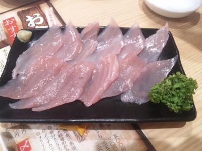 141031吉野家東三国店まぐろ刺身W500円
