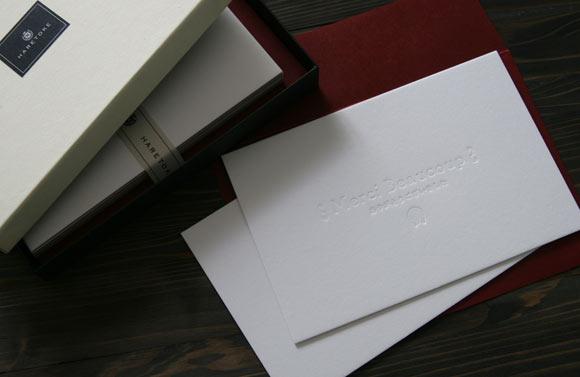 活版サンキューカード