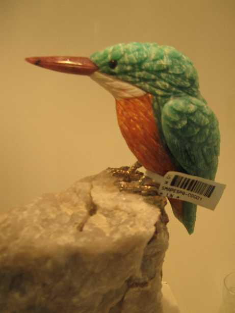 宝石鑑賞 宝石の彫刻 番外編 小鳥の彫刻 インカローズ VIPサロン 鍼灸(はりきゅう)治療院 東京都葛飾区東新小岩