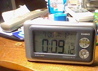 この時計です。(写真は1ヶ月前のものです)
