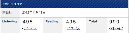 2012.11 TOEIC result