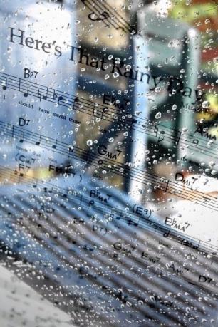 水滴・雨・楽譜