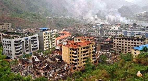 中国四川省 地震 画像