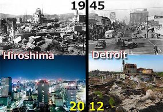 デトロイトと広島の図