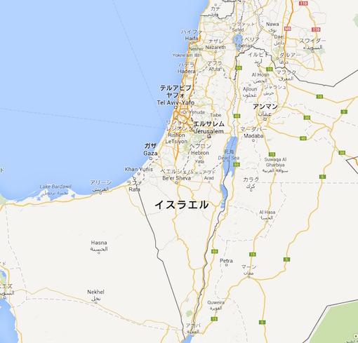 イスラエル地図 0001