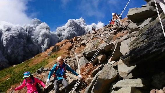 御嶽山 噴火 画像