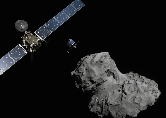 ロゼッタ 彗星着陸 画像