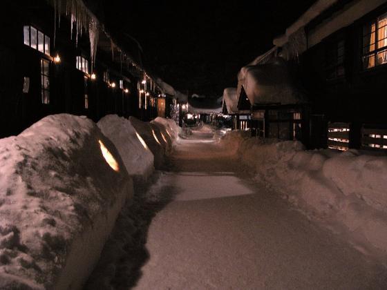 2008.01.02 鶴の湯 かまくら灯篭