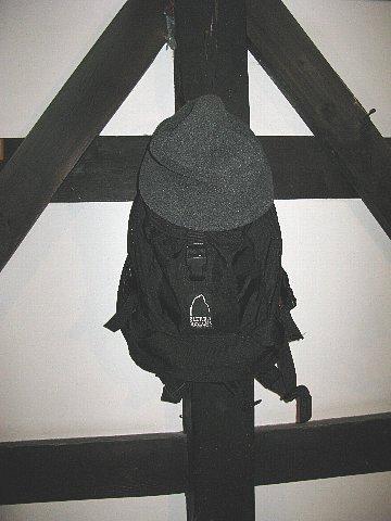 ザックと帽子