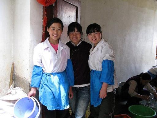 麗江 レストラン ナシ族の少女