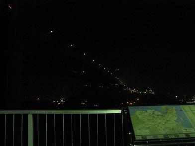 壇ノ浦SAから見た対岸九州の夜景
