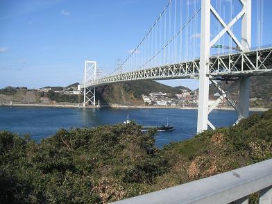 九州側から見た関門橋