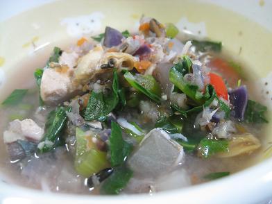 サバと野菜の味噌風味スープ