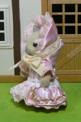 ピンクドレス 横 母